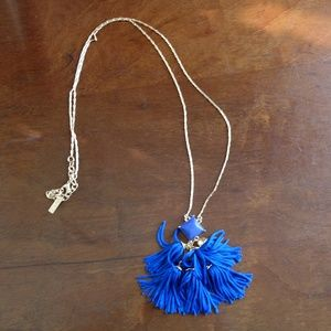 BaubleBar Jewelry - SUGARFIX by BaubleBar Blue & Gold Tassel Necklace